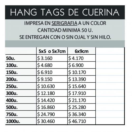hang tags de CUERINA